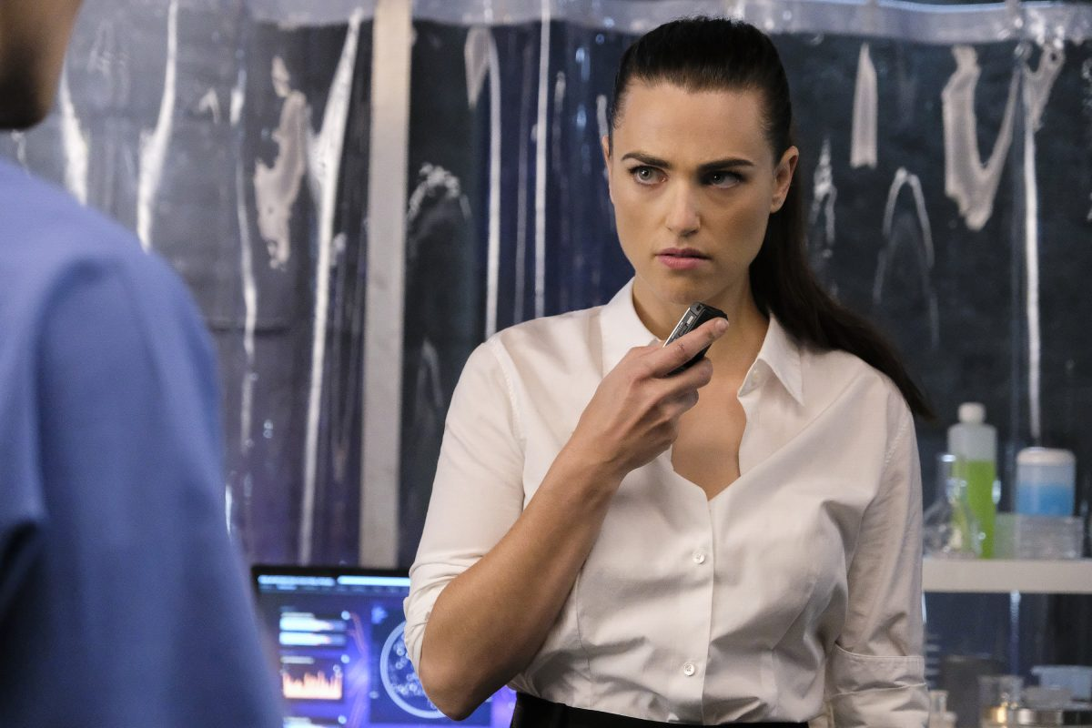 Katie McGrath as Lena Luthor in The CW's Supergirl.