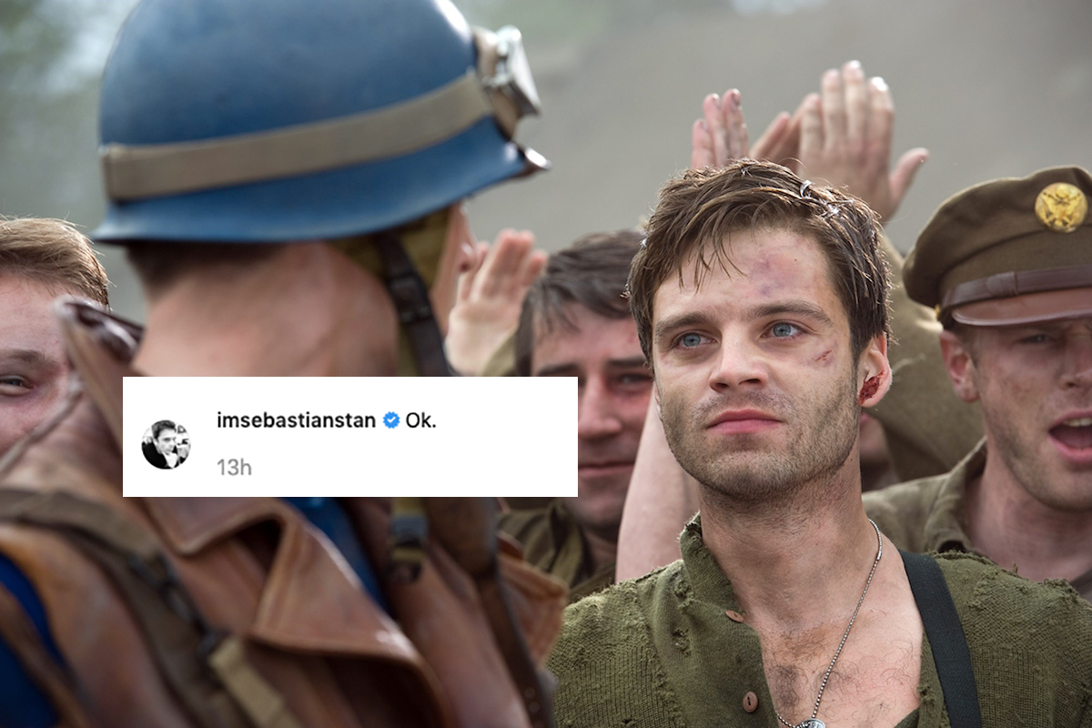 Sebastian Stan reacts to Winter Soldier/Falcon series