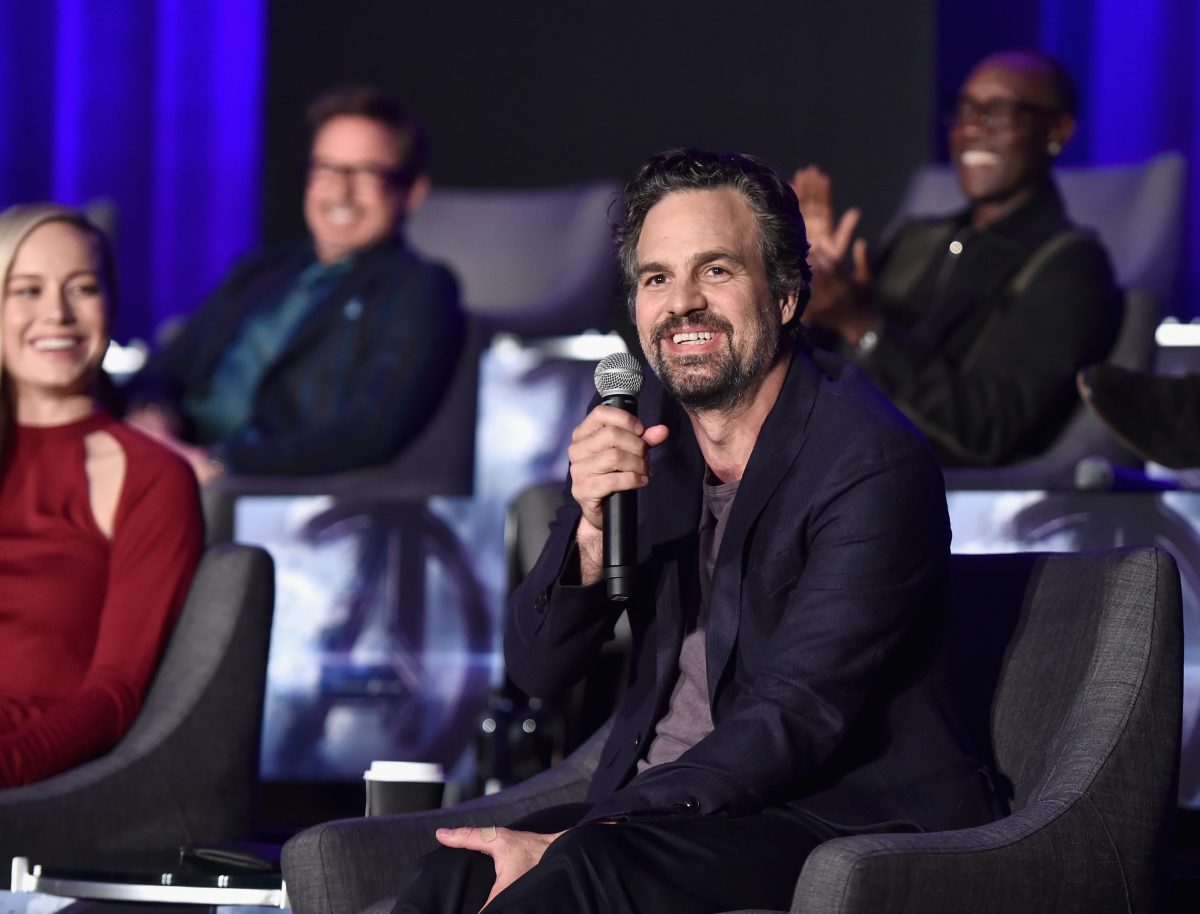 Mark Ruffalo at Avengers: Endgame panel