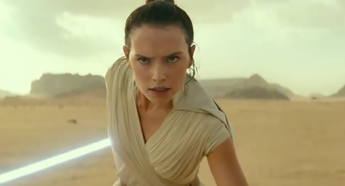 Rey readies herself for battle in the first trailer for Star Wars: The Rise of Skywalker