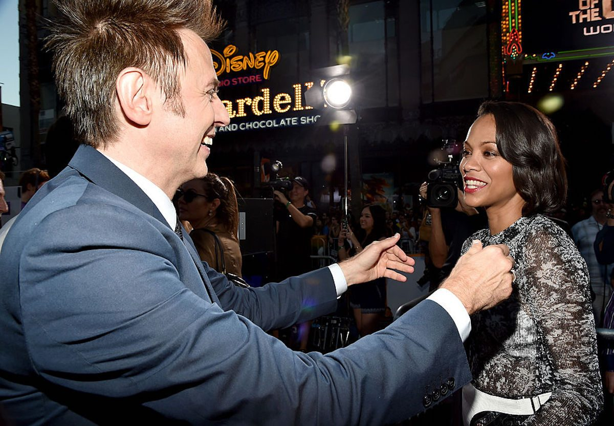 Zoe Saldana on James Gunn Being Reinstated to Marvel's Guardians of the Galaxy