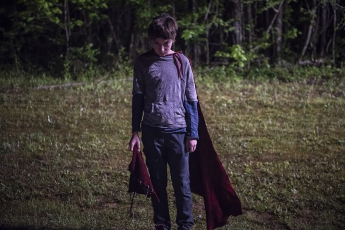 """Jackson A. Dunn in Brightburn (2019) answering the question """"What if Superman were a tiny asshole?"""""""
