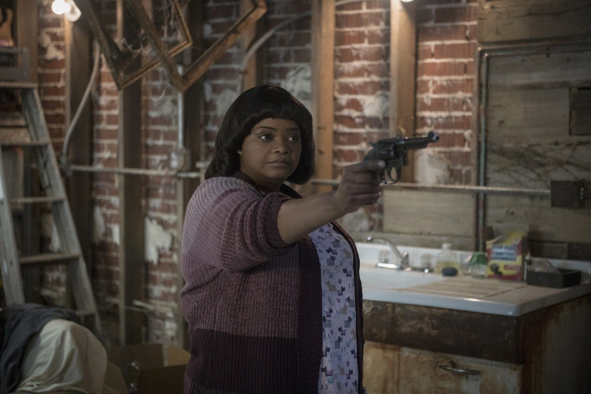 Octavia Spencer brandishing a gun in 'Ma.'