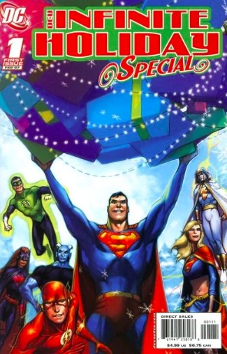 DC Infinite Holiday Special #1 comic book cover.