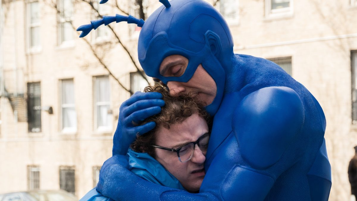 Peter Serafinowicz as The Tick Griffin Newman as Arthur Everest in the tick.