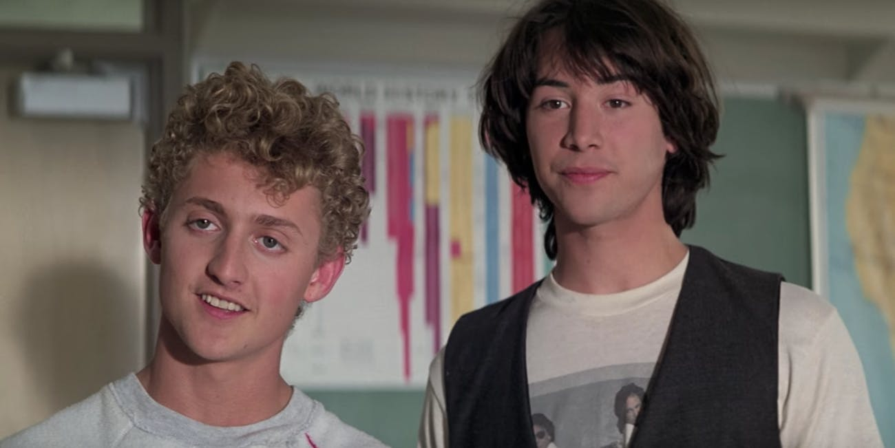 Bill and Ted in Bill & Ted's Excellent Adventure.