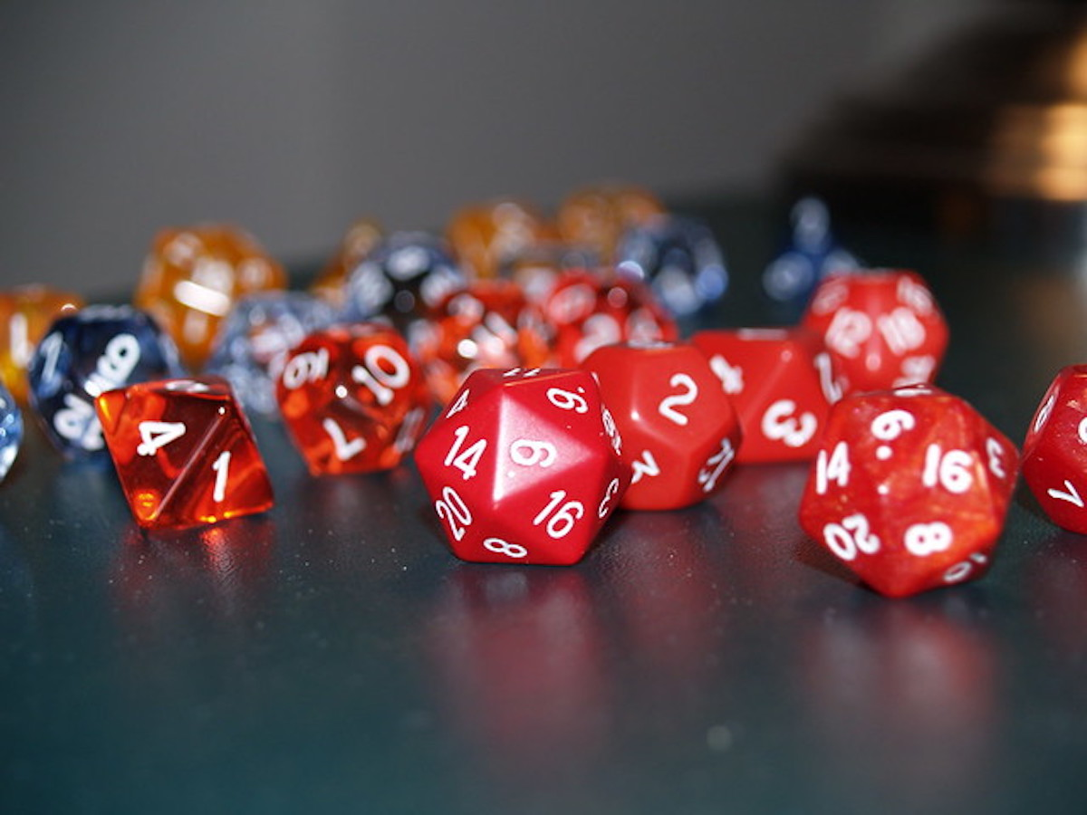 Dungeons and Dragons dice.
