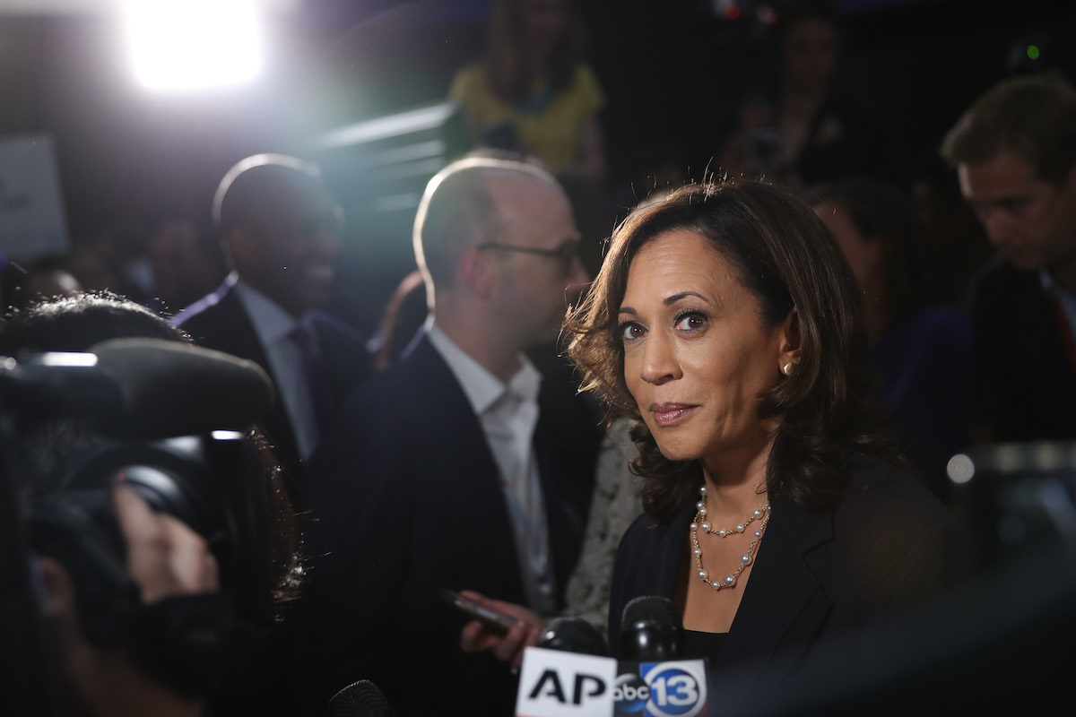 Kamala Harris looks appropriately confident after the democratic debate.