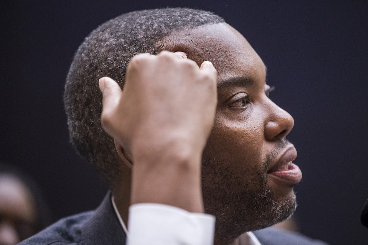 Writer Ta-Nehisi Coates testifies during a congressional hearing on slavery reparations