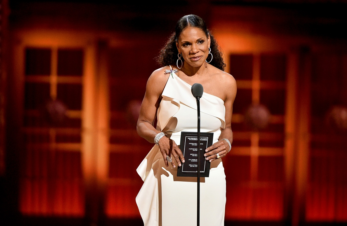Audra McDonald presents an award onstage during the 2019 Tony Awards at Radio City Music Hall on June 9, 2019 in New York City. (Photo by Theo Wargo/Getty Images for Tony Awards Productions)
