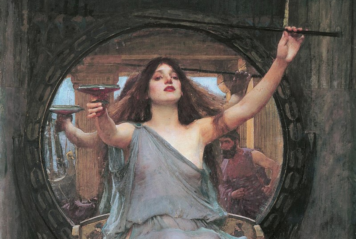 Circe Offering the Cup to Odysseus by John William Waterhouse