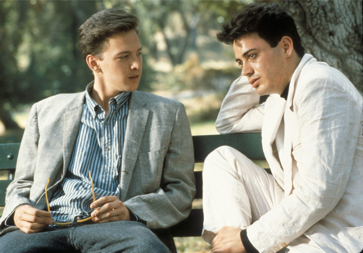 Robert Downey Jr. and Andrew McCarthy in Less Than Zero