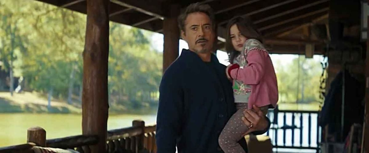 Tony Stark and Morgan Stark at their house in Marvel's Avengers: Endgame.