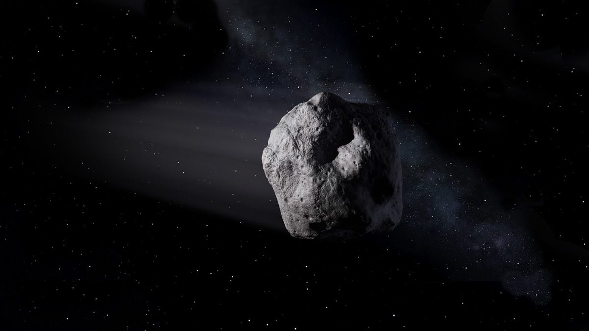 Artist rendering of near Earth asteroid