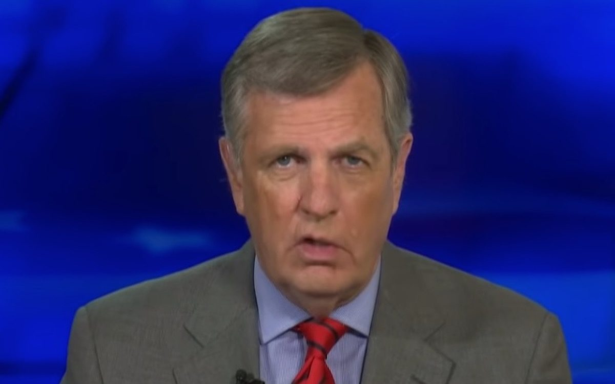 Brit Hume ranting about racism on Fox News.
