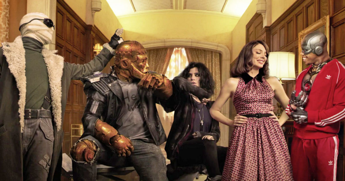 matt bomer, brendan fraser, Diane guerrero, april bowlby and joivan wade in doom patrol