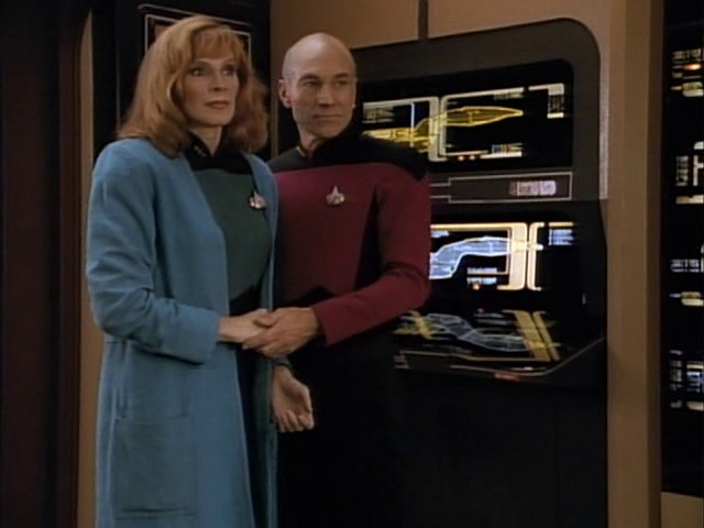 Dr. Crusher and Jean-Luc Picard