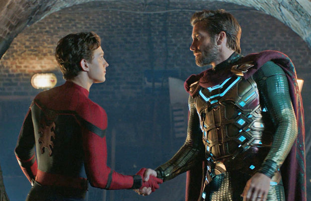 Peter Parker and Quentin Beck / Mysterio in Spider-Man: Far From Home