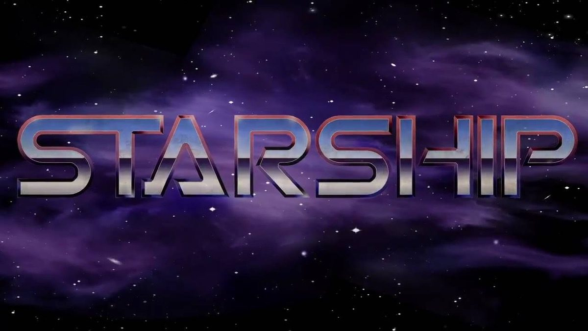 Starship the musical title card.