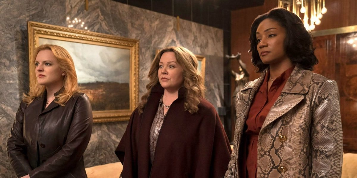 Melissa McCarthy, Tiffany Haddish, and Elisabeth Moss in The Kitchen.