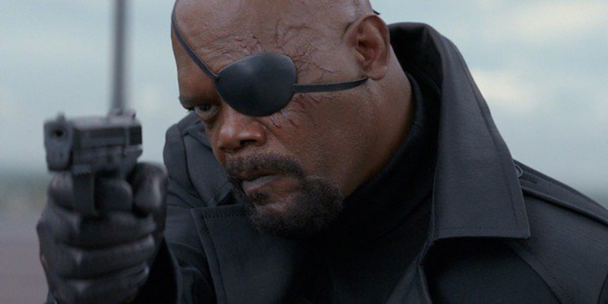 Samuel l Jackson as Nick Fury one of the GOATs