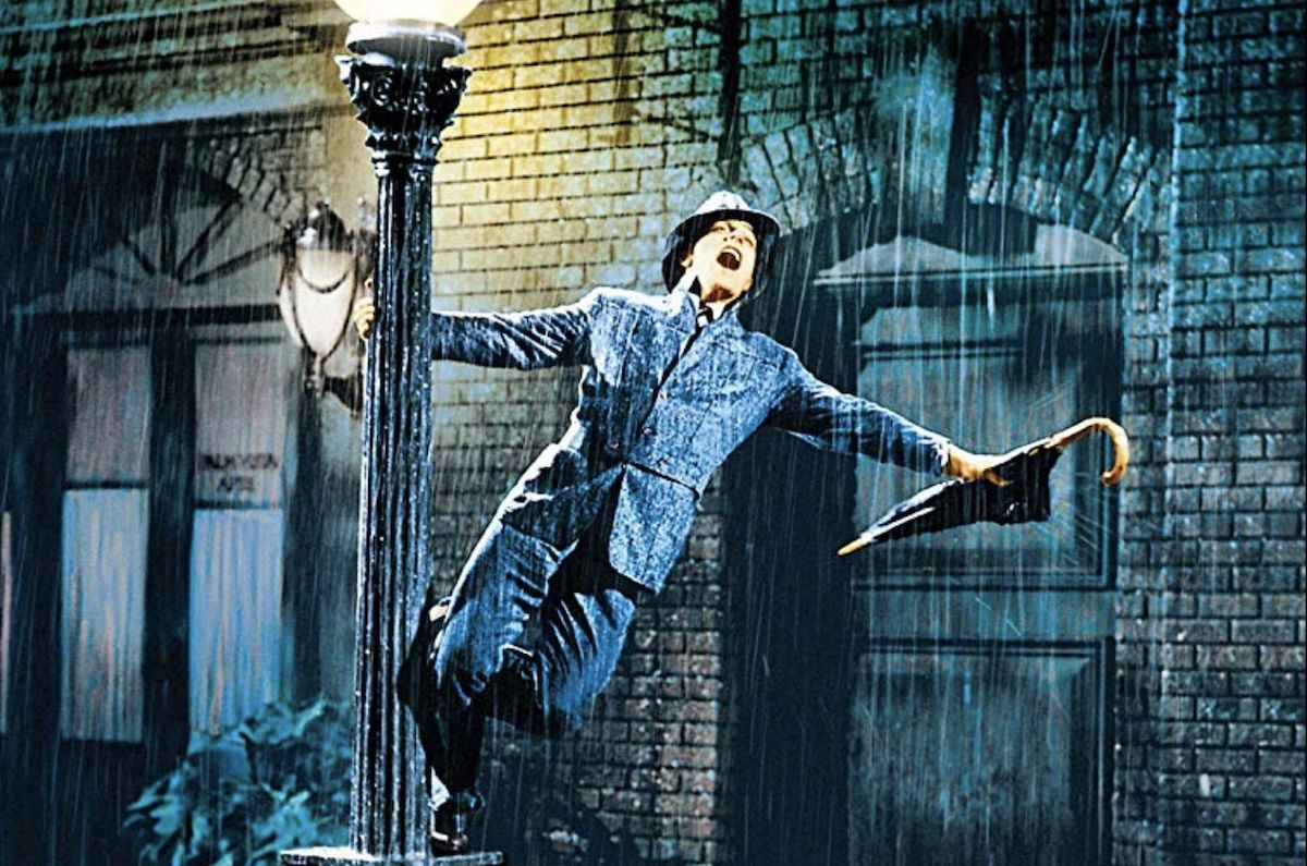Gene Kelly dancing in Singing in the Rain.