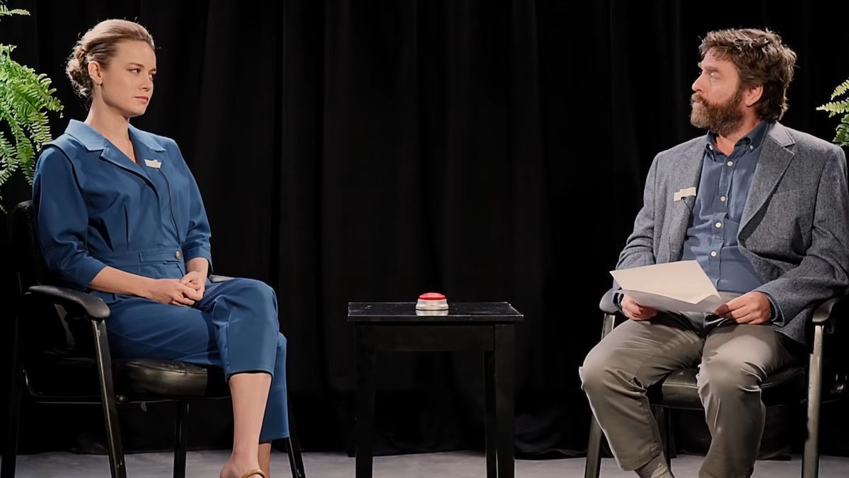 Brie Larson in Between Two Ferns: The Movie with Zach Galifianakis