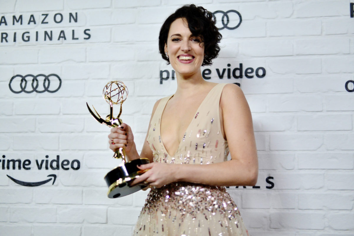 Phoebe Waller-Bridge with the awards she deserves