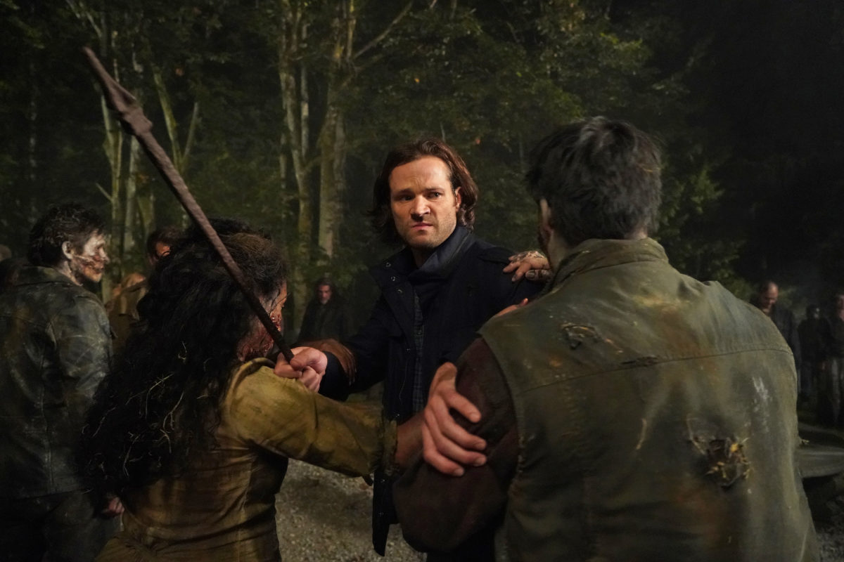 Sam winchester fights more hell zombies