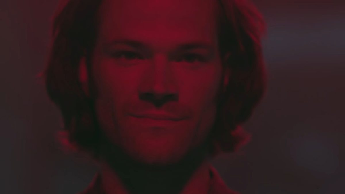 sam winchester looking particularly evil in a screenshot from Supernatural