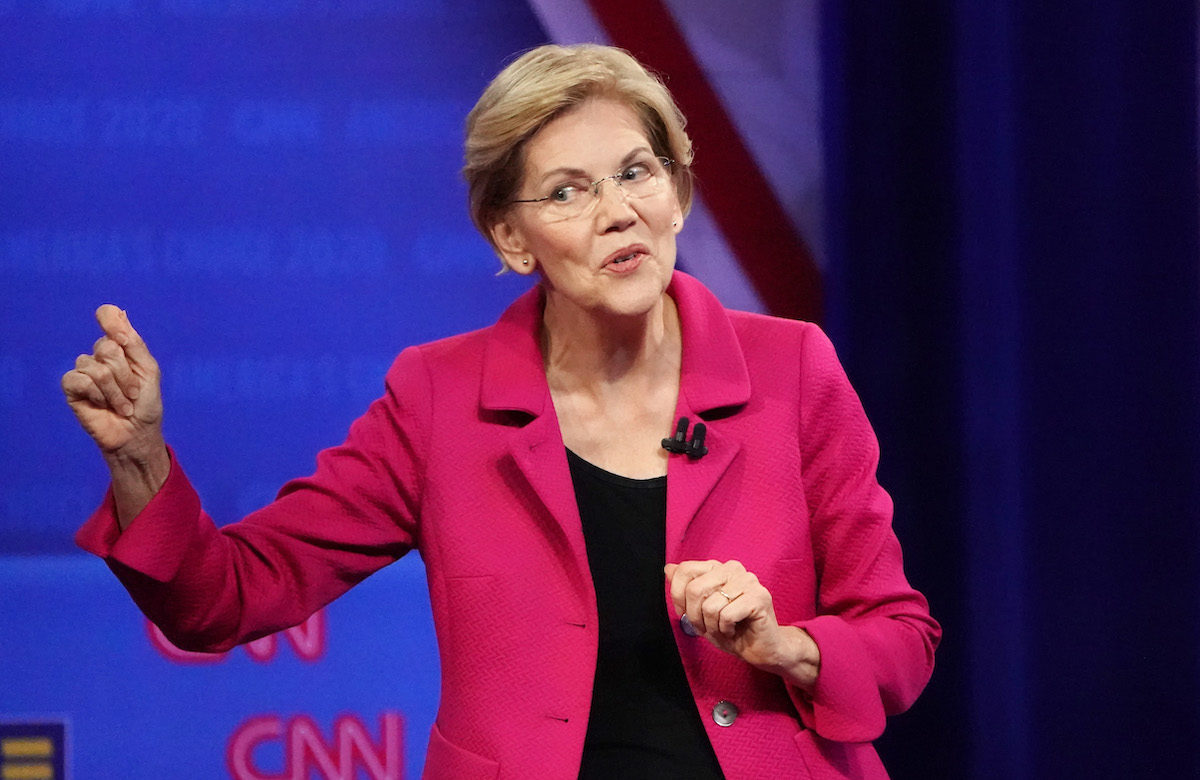 Democratic presidential candidate, Sen. Elizabeth Warren (D-MA) speaks at the Human Rights Campaign Foundation and CNN presidential town hall focused on LGBTQ issues