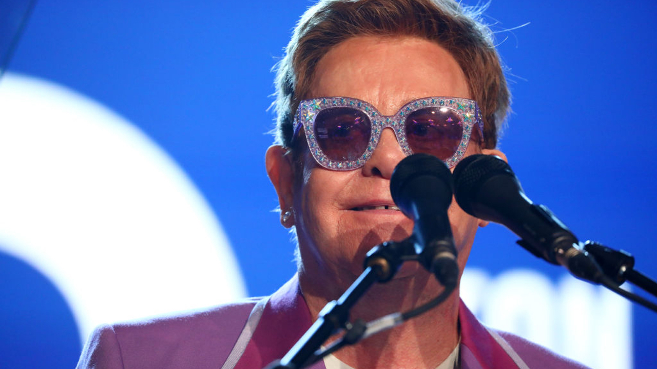 "ANTIBES, FRANCE - JULY 24: Sir Elton John on stage during the first ""Midsummer Party"" hosted by Elton John and David Furnish to raise funds for the Elton John Aids Foundation at the Villa Dorane on July 24, 2019 in Antibes, France. (Photo by Tim P. Whitby/Getty Images for EJAF)"