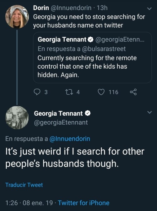 Georgia Tennant on Twitter