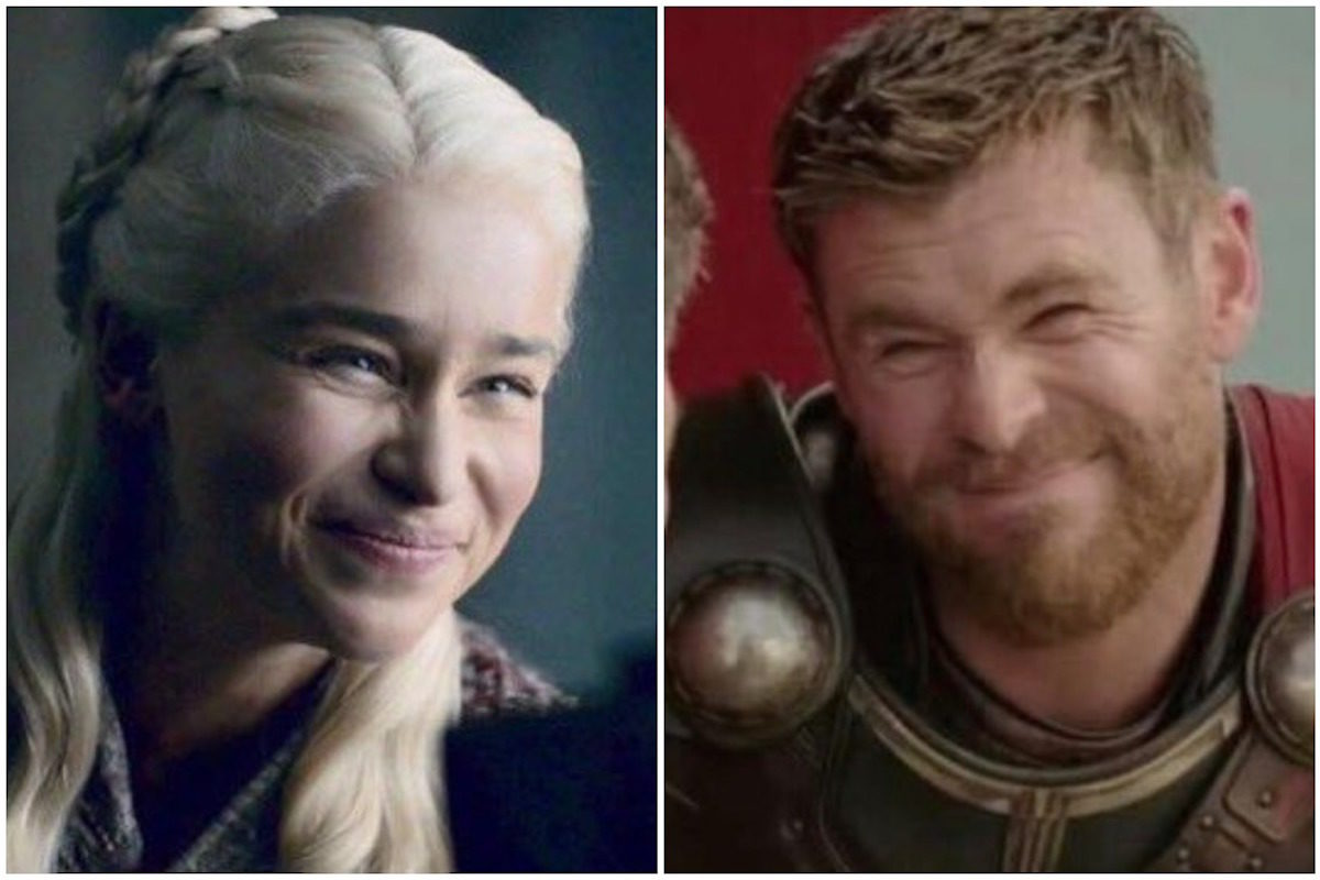 Daenerys and Thor make faces