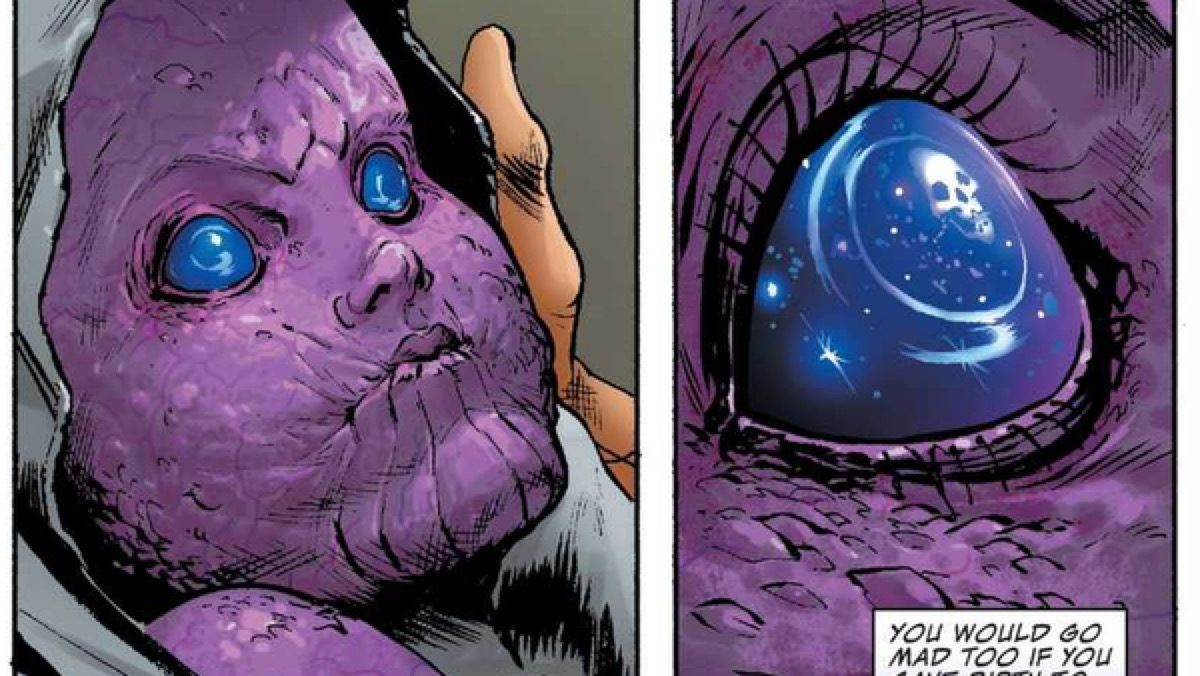 Baby Thanos in Marvel comics.
