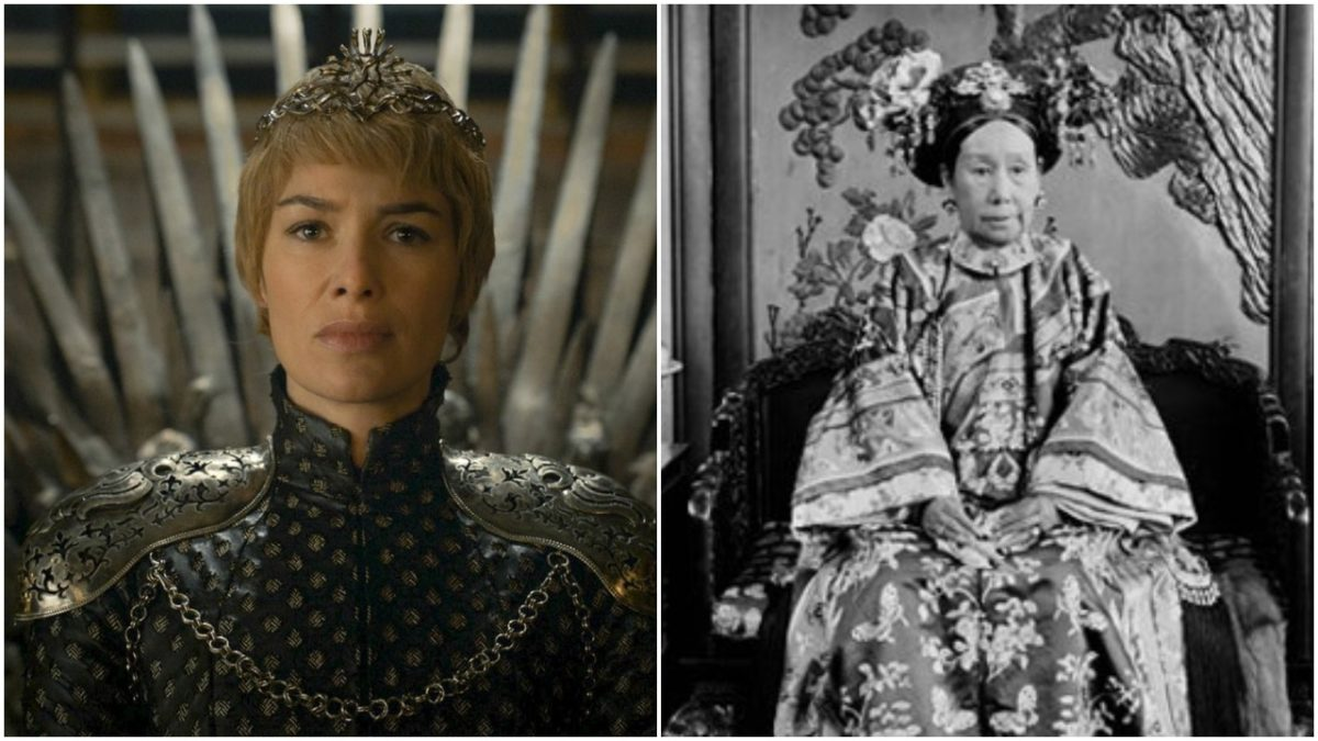 image cersei anniset on game of thrones with dowager empress cixi of china