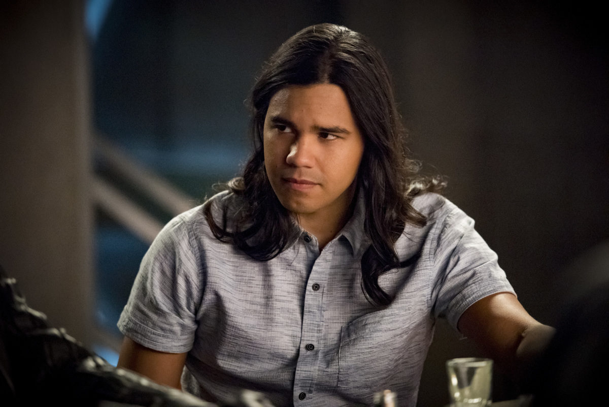 Cisco looking unhappy on The CW's The Flash.