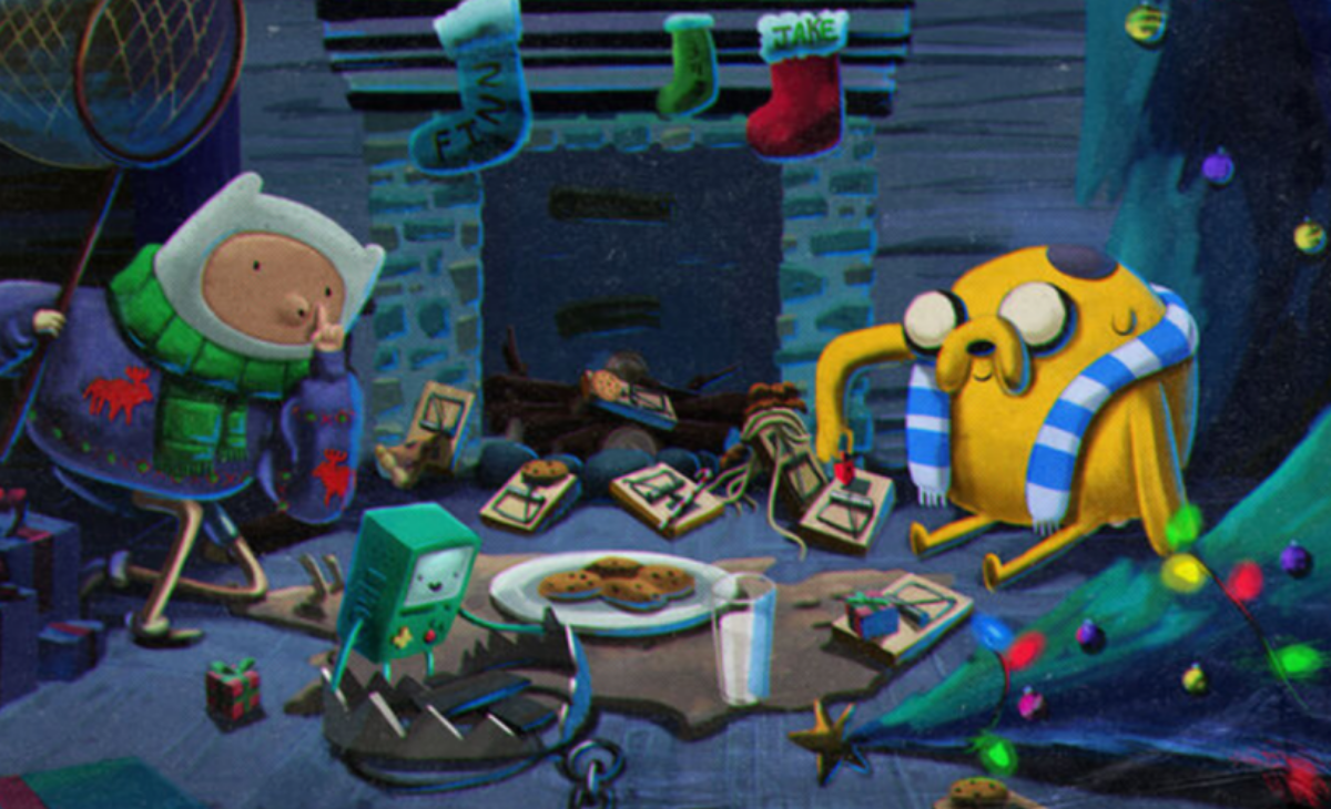 Finn and Jake from Adventure time being fantastic