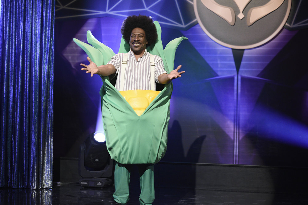 "SATURDAY NIGHT LIVE -- ""Eddie Murphy"" Episode 1777 -- Pictured: Host Eddie Murphy as Buckwheat during the ""Masked Singer"" Sketch on Saturday, December 21, 2019 -- (Photo by: Will Heath/NBC)"