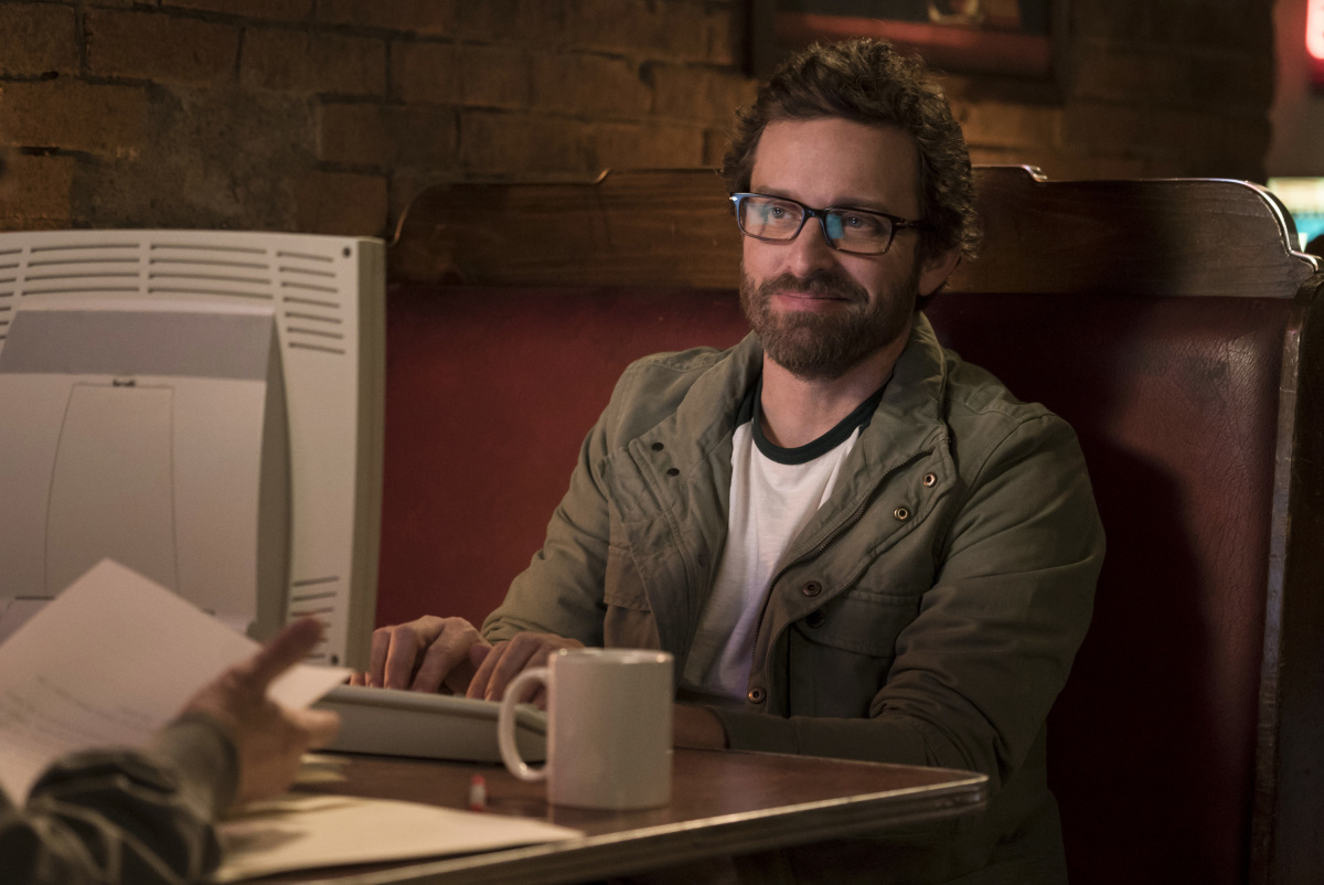 """Supernatural -- """"Don't Call Me Shurley"""" -- Image SN1120b_0314.jpg -- Pictured: Rob Benedict as Chuck Shurley-- Photo: Katie Yu/The CW -- © 2016 The CW Network, LLC. All Rights Reserve"""