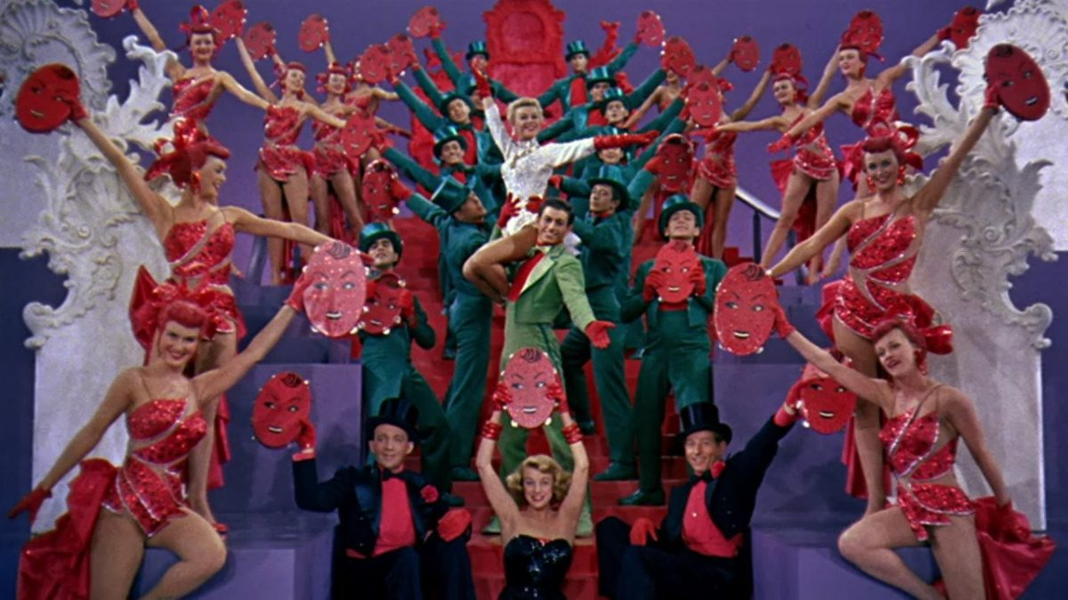 the minstrel number form white christmas