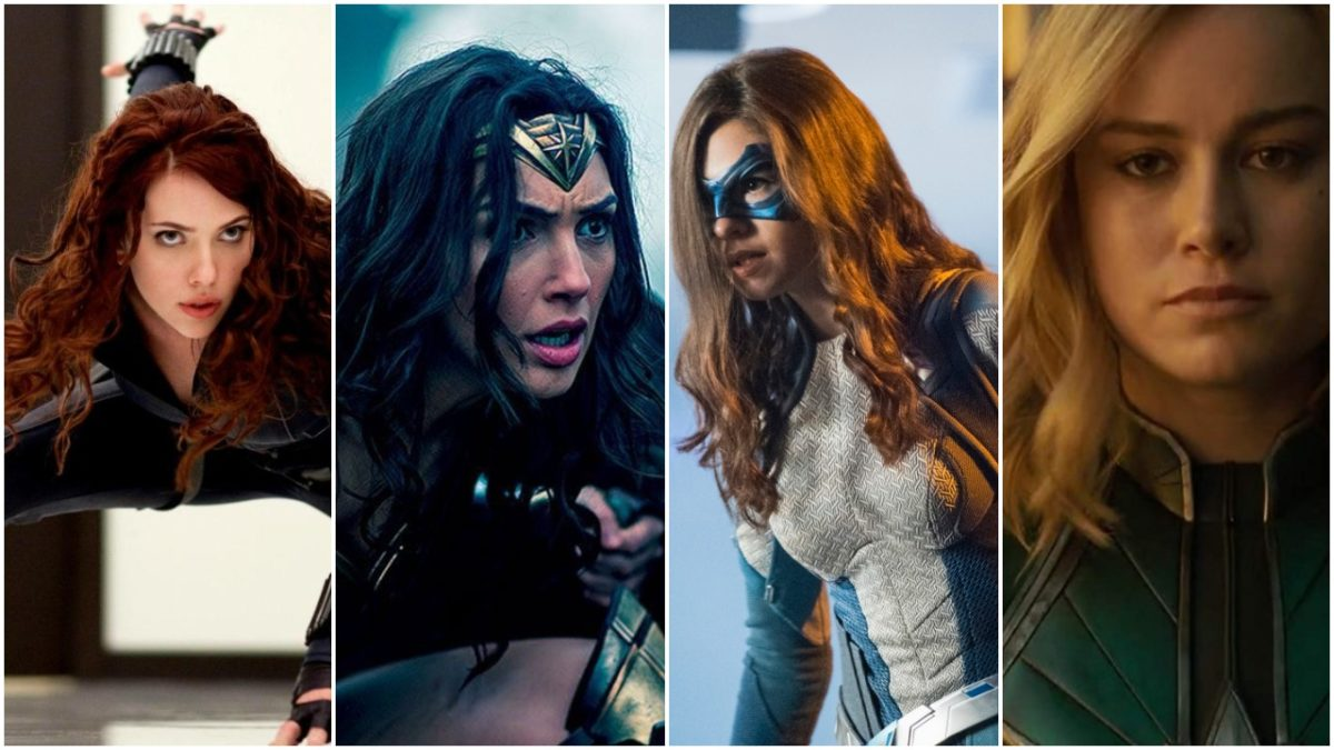 black widow, wonder woman, dreamer and captain marvel all need a ponytail.