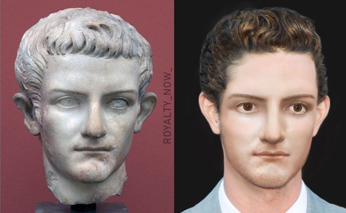 Caligula sculpture as modern picture