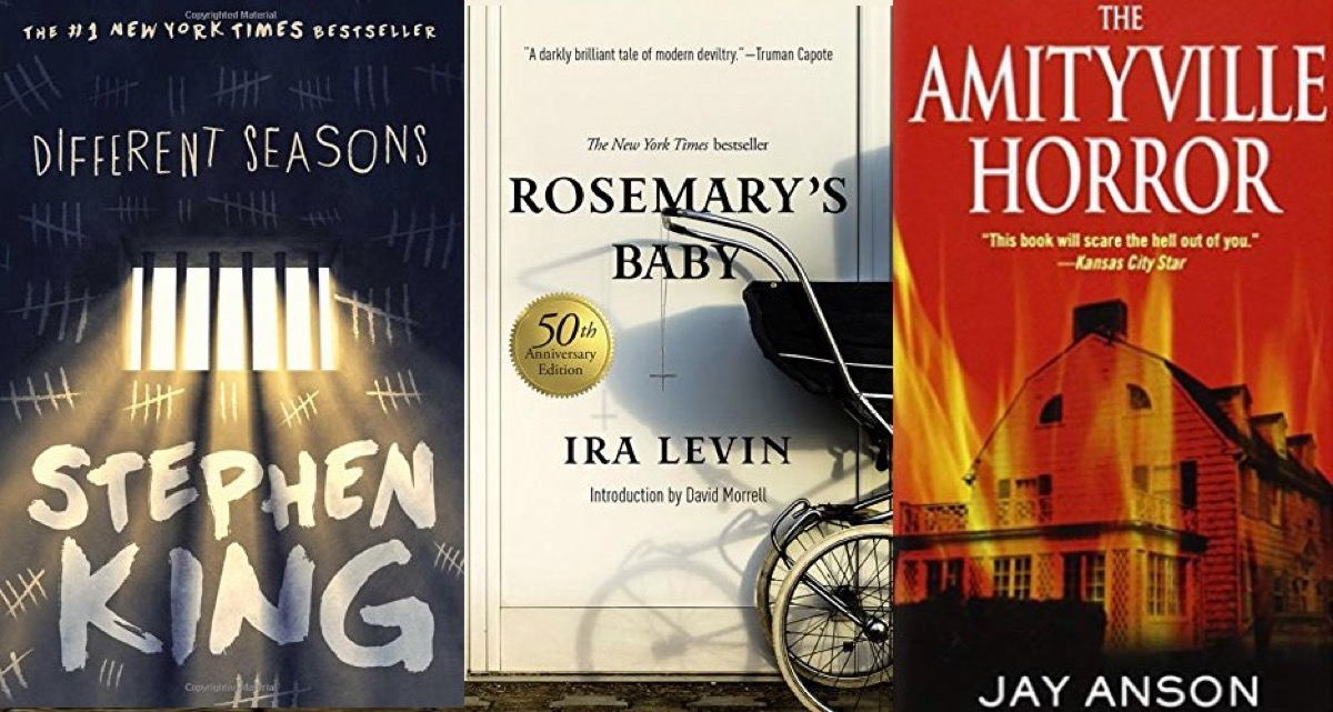 Different Seasons, Rosemary's Baby, and Amityville Horror book covers for Riverdale reading list.
