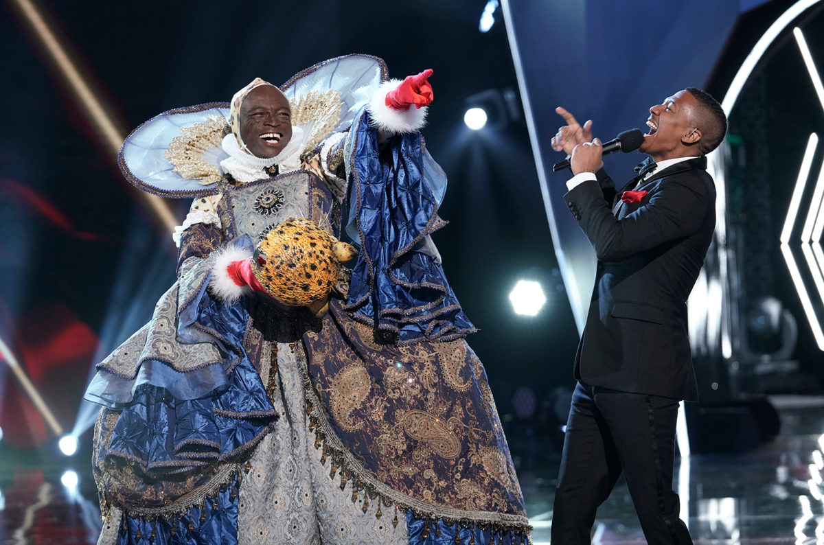seal and nick cannon on the masked singer