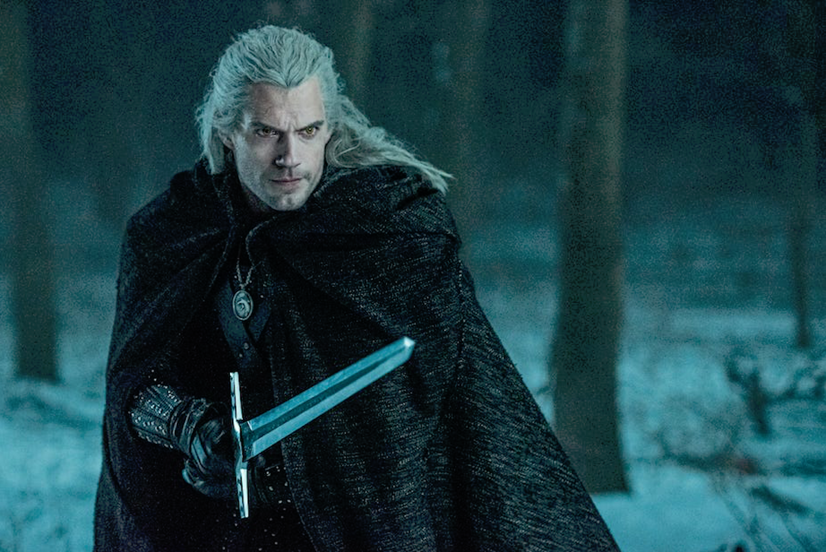 Geralt of Rivia with sword on The Witcher