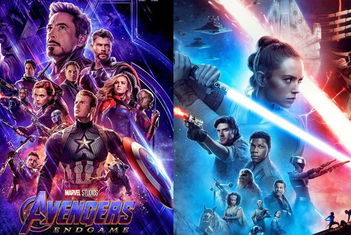 Avengers: Endgame and Star Wars: The Rise of Skywalker posters.