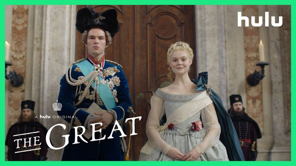 Elle Fanning as Catherine the Great and Nicholas Hoult as Peter III of Russia