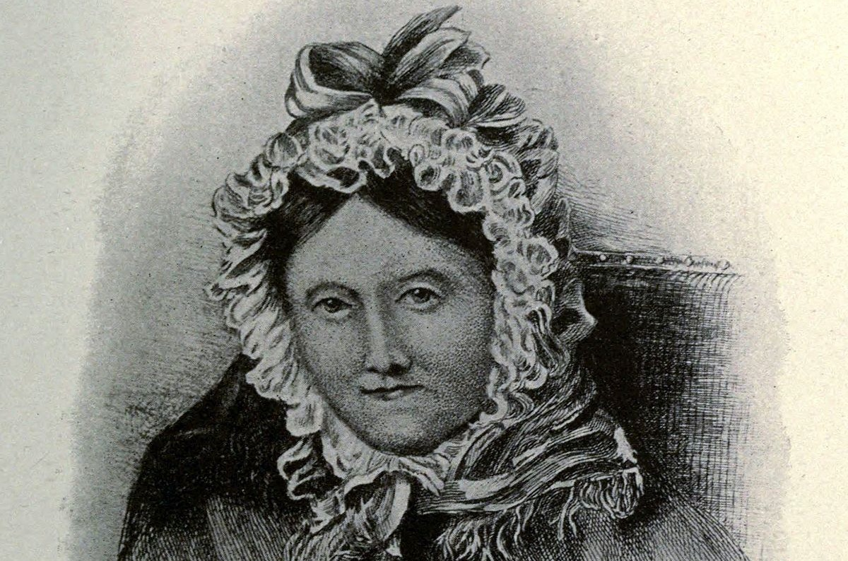 Drawing of Dorothy Wordsworth in middle age