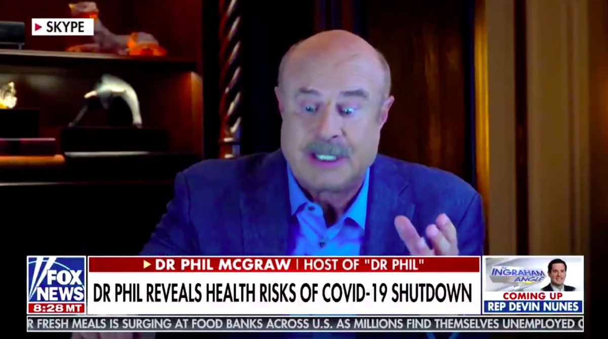 Dr. Phil's very normal facial expression.